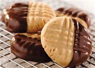 Chocolate Dipped Soft Peanut Butter Cookies