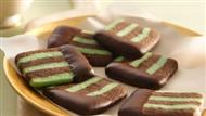 Chocolate Mint Layered Cookie Slices