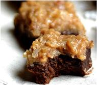 German Chocolate Layered Brownies